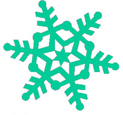 Some of the snowflake clipart is in black and white while some of the ...