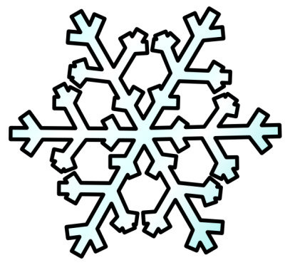 snowflake clipart rh picturesofwinter net snowflake clipart borders snowflake clipart black and white