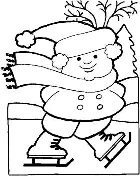 winter coloring pages fun winter images to color - Fun Coloring Pages