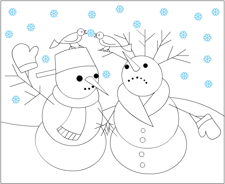 Coloring Pages For Winter Wonderland. snowman color  winter snowmen Winter Coloring Pages Fun Images to Color
