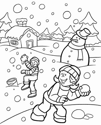 Winter Coloring Pages Fun Winter Images To Color